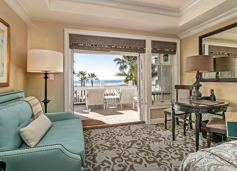 Hotel Del Coronado. Beach Village ocean view room.