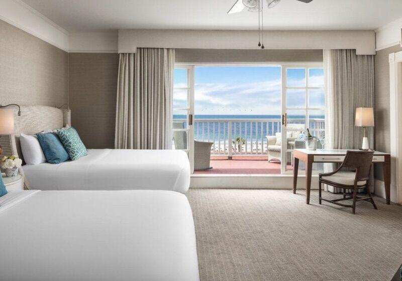 Victorian ocean view room at Hotel Del Coronado.