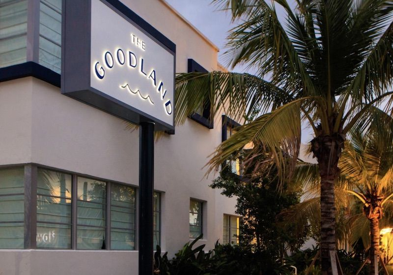 Exterior of the Kimpton Goodland Hotel in Fort Lauderdale Beach.
