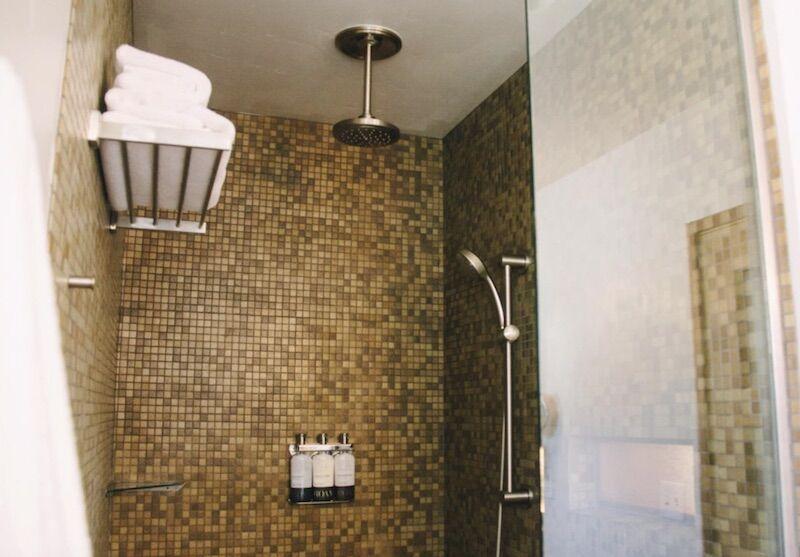 Courtyard king bathroom at The Modern Hotel in Boise, Idaho.