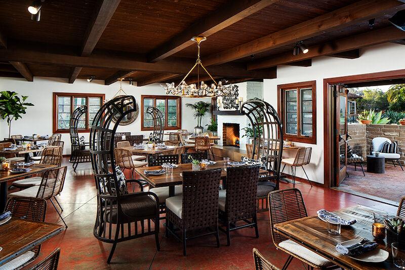 Estancia La Jolla near San Diego, Calif. Mustangs & Burros dining room.