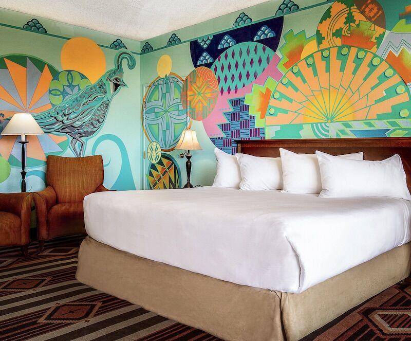 A room at the Navito Lodge in Albuquerque.