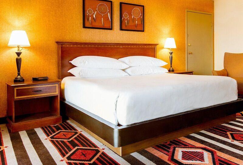 .A room at the Navito Lodge in Albuquerque.