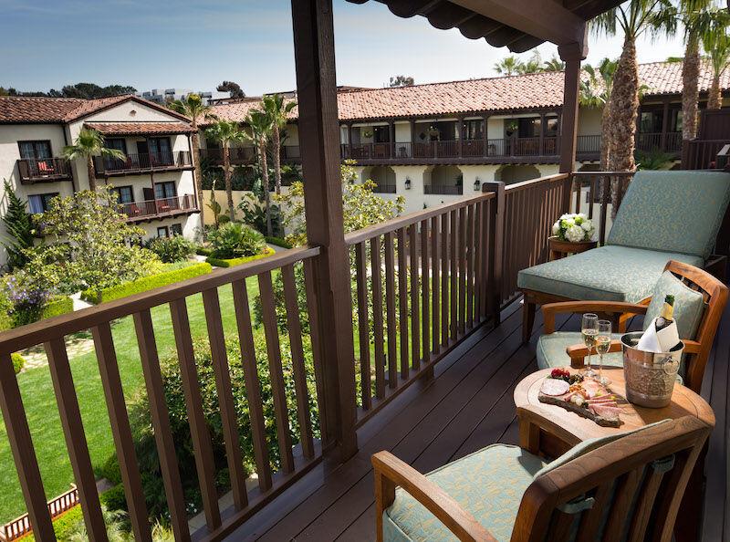 Estancia La Jolla near San Diego, Calif. Presidential suite balcony.