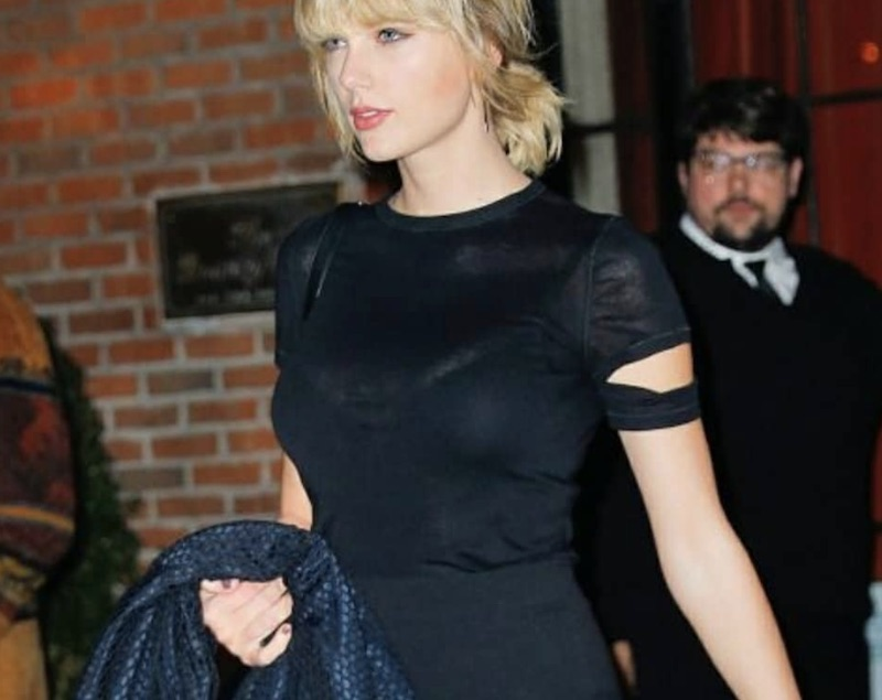 Taylor Swift outside the Bowery Hotel.