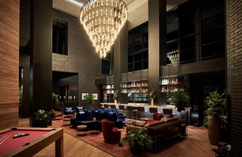 Bar at the Virgin Hotel Nashville