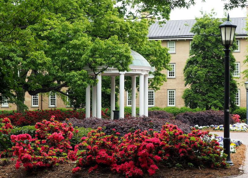 Chapel Hill, UNC, on the ultimate North Carolina road trip. Photo by John Paradiso.