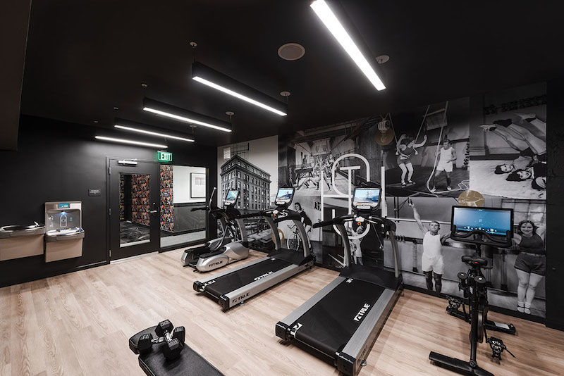 The State Hotel gym. Image by KIPMAN Creative, courtesy of hotel.
