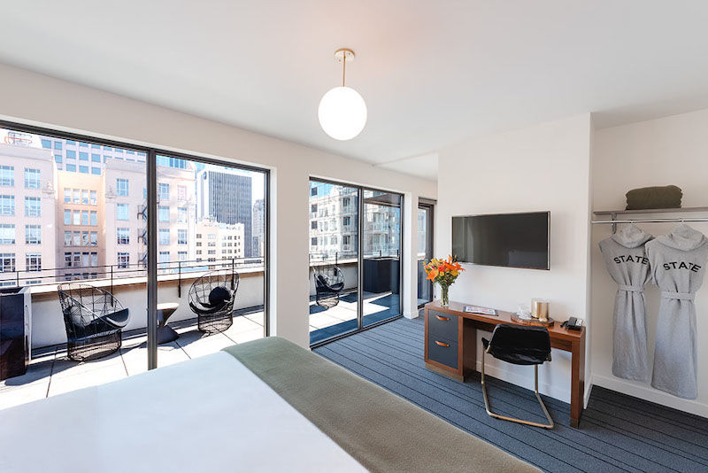 The State Hotel, terrace suite room