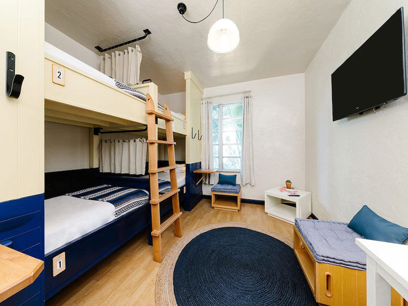 Room with the bunks at the Freehand Miami