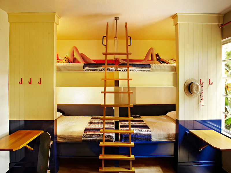 Room with bunks at the Freehand Miami